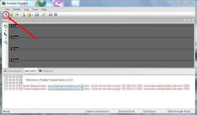 klik tombol proxy server