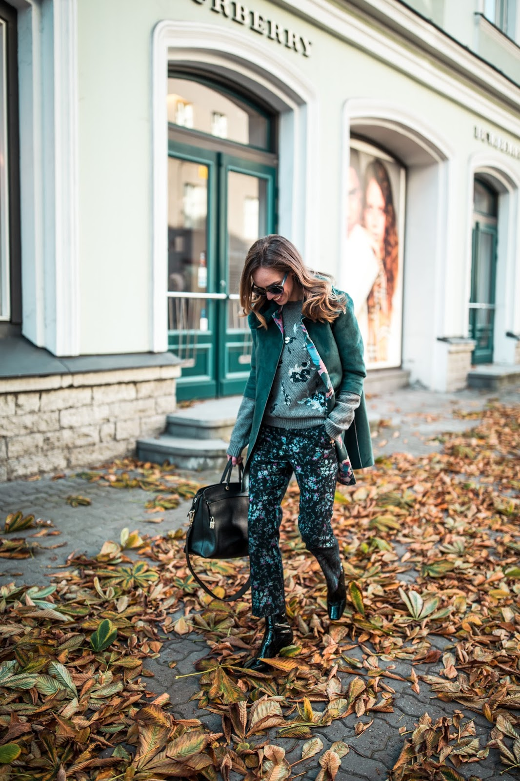 floral pants outfit street style fall