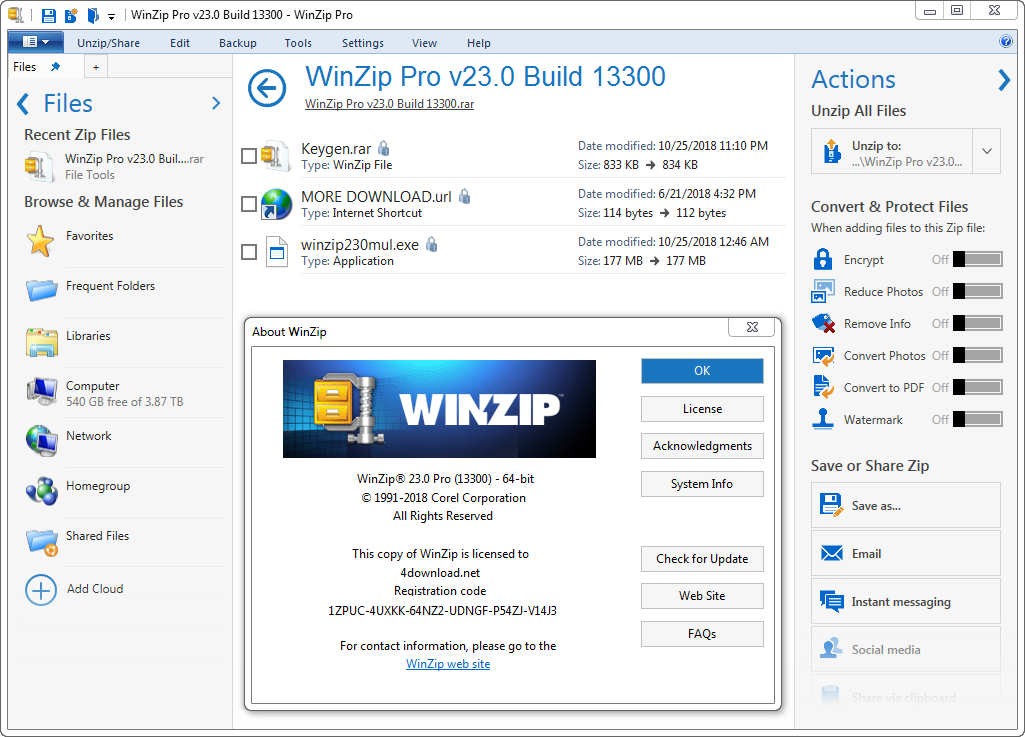 WinZip Pro v23.0 Build 13300 Full version