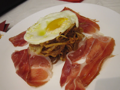 Bilbao Restaurant and Gastrobar, jamon eggs potato strips