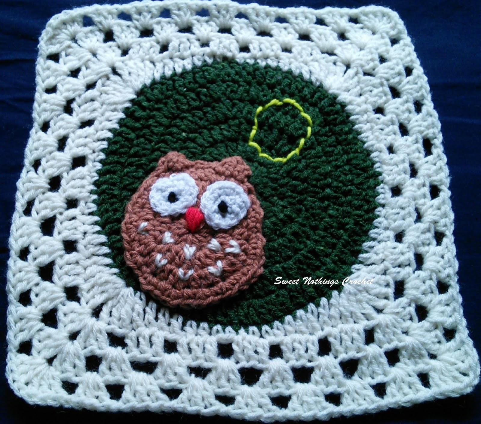 Sweet Nothings Crochet O For Owl Granny Square Alphabet Series
