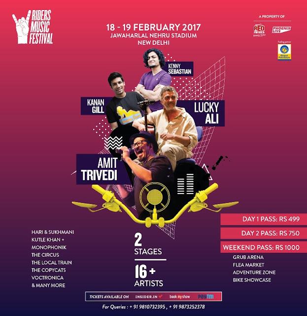 Amit Trivedi, Lucky Ali, Kenny Sebastian, Kanan Gill to perform at 'Riders Music Festival' 2017