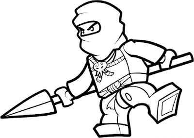 Gambar Mewarnai Lego - 9