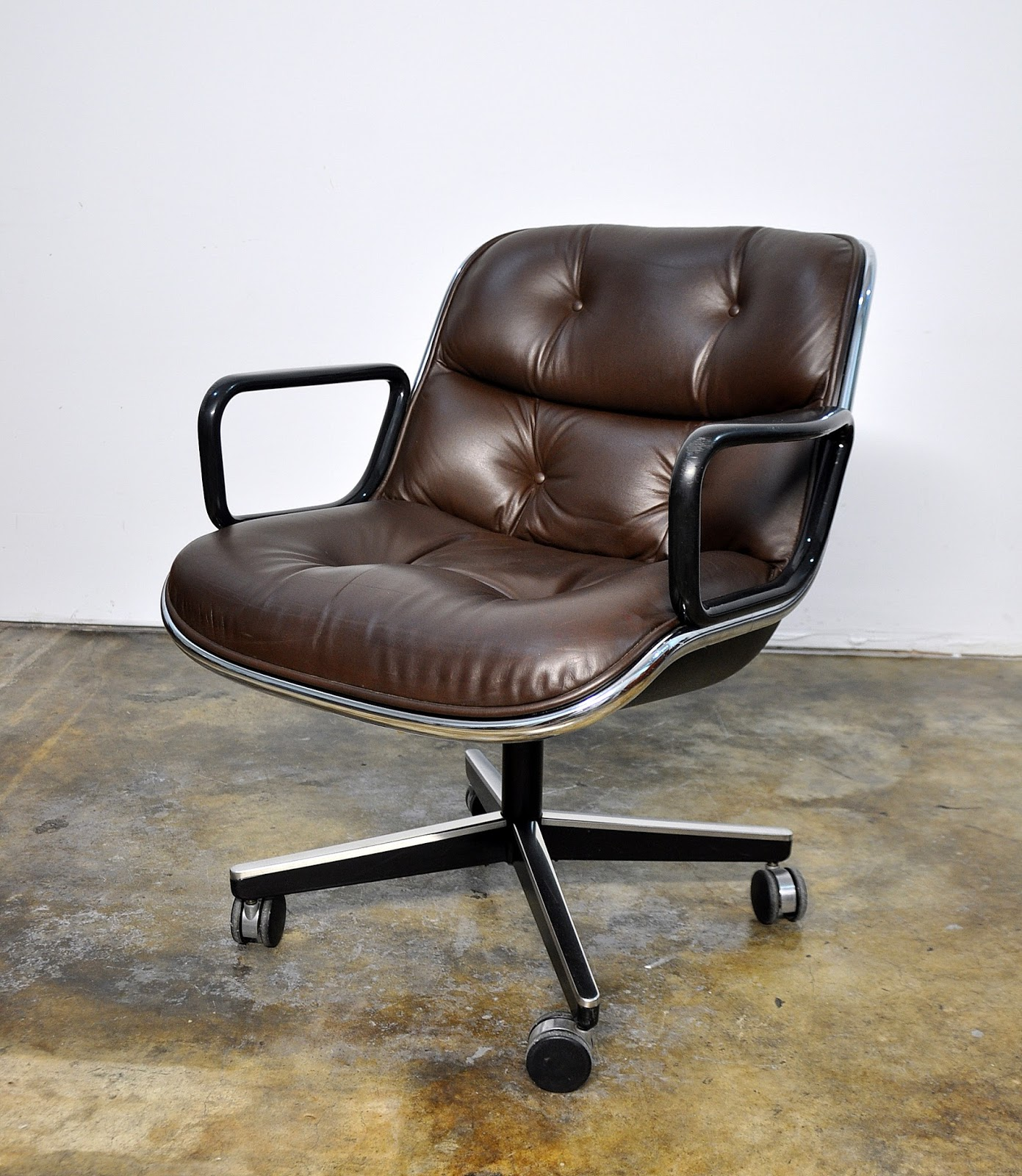 Knoll Pollock Chair Select Modern Charles Pollock For Knoll Leather Executive