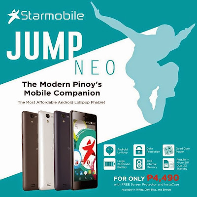 Starmobile JUMP Neo: Specs, Price and Availability