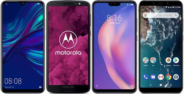 Huawei P Smart 2019 vs Motorola Moto G6 64 GB vs Xiaomi Mi 8 Lite 64G vs Xiaomi Mi A2 64G