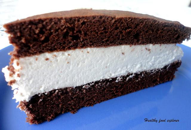 Torcik czekoladowy z kremem kokosowym