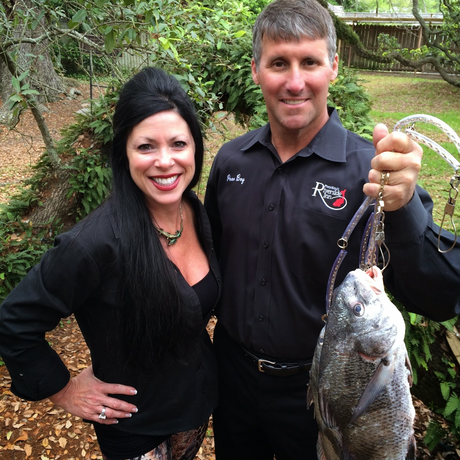 Chef Richard Hurst and his wife Lori flaunt their fresh catch morning delivery