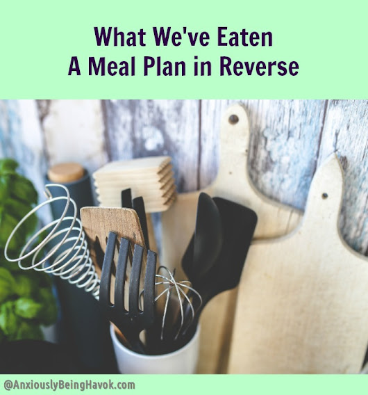 What We've Eaten - A Meal Plan in Reverse [No. 5}