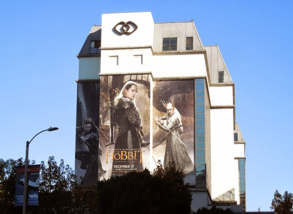 Hobbit 2 Desolation of Smaug elves billboard
