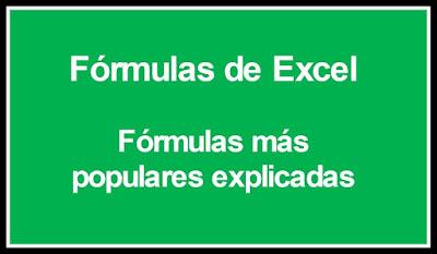 Formulas de Excel explicadas