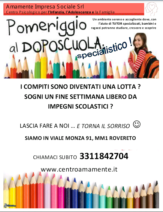 aiuto compiti, Tutor Dsa, Doposcuola a Milano