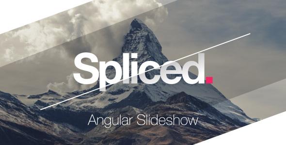 VideoHive Spliced Angular Slideshow Adobe After Effects Templates - Adobe after effects slideshow templates