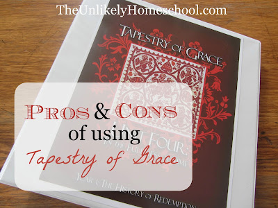 Pros & Cons of Using Tapestry of Grace {The Unlikely Homeschool}