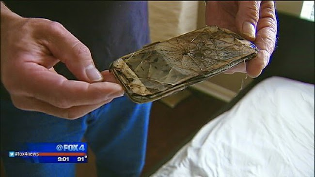 Samsung Galaxy S4 Mobile Phone Burned and Melted