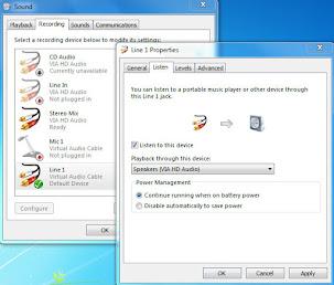 Merekam Audio Komputer Di Window 7 Menggunakan Virtual Audio cable