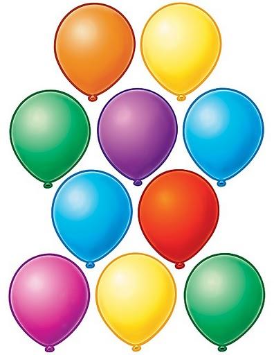 Imagen de globos para recortar imagenes y dibujos para - Dibujos en colores para imprimir ...