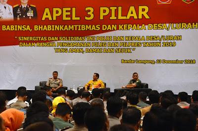 Serbu Novotel, 1600 Perangkat Desa, TNI, dan Polri Gelar Apel Akbar Pengamanan Pileg dan Pilpres