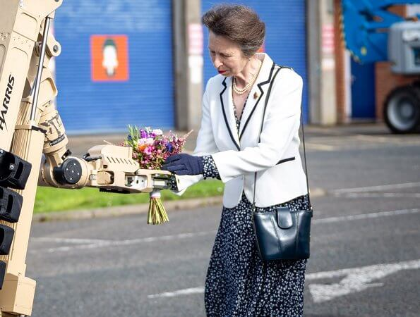 The Princess Royal visited the Royal Logistic Corps in Northern Ireland, to commemorate the 50th anniversary of the Search Squadron
