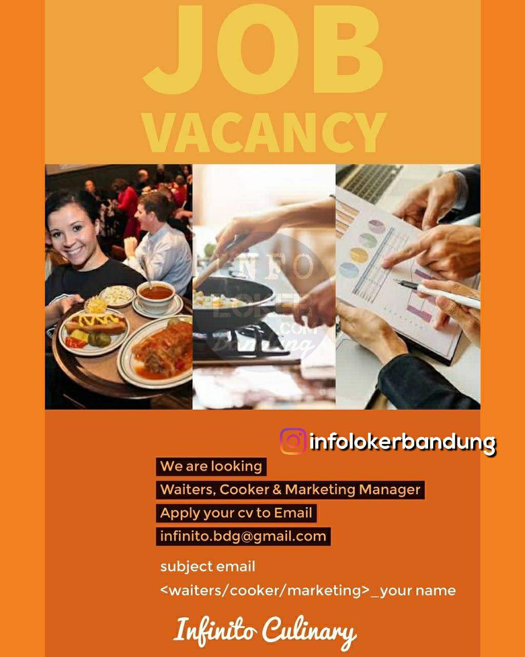 Lowongan Kerja Infinito Culinary Bandung Juni 2018