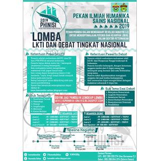 Lomba LKTI & Debat Nasional Phinisi V 2019 Mahasiswa