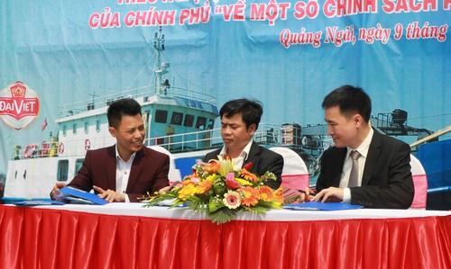 Bàn giao tàu dịch vụ hậu cần nghề cá Lý Sơn 168 - Hình 4