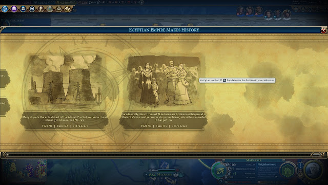 Screenshot of Timeline in Sid Meier's Civilization VI: Rise and Fall