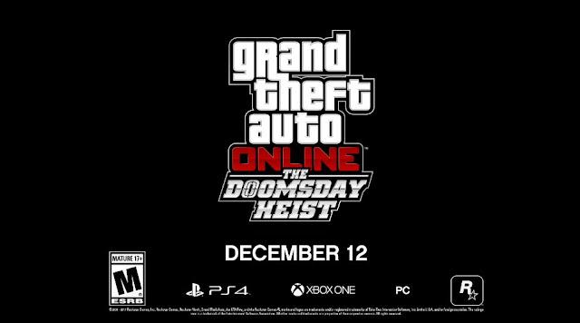 الإعلان عن توسعة The Doomsday Heist لطور GTA Online و هذا أول عرض رسمي