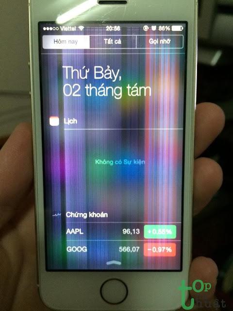 Kiểm tra màn hình iPhone