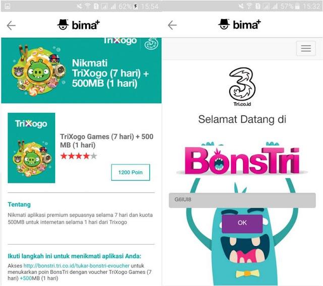 Cara Tukar Poin BonsTri dengan Kuota Internet Gratis Terbaru