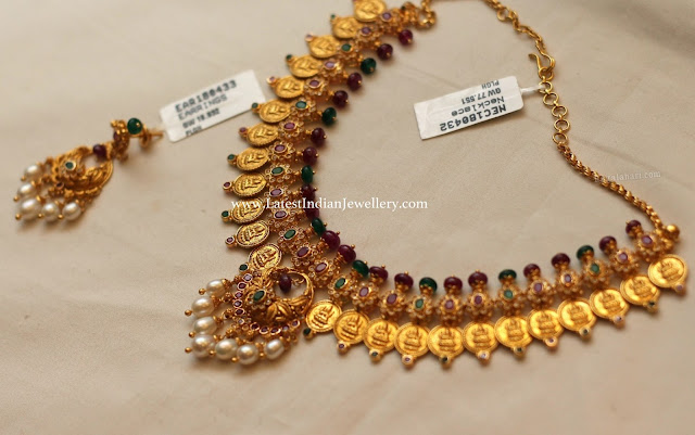 Lakshmi Kasu Necklace Set