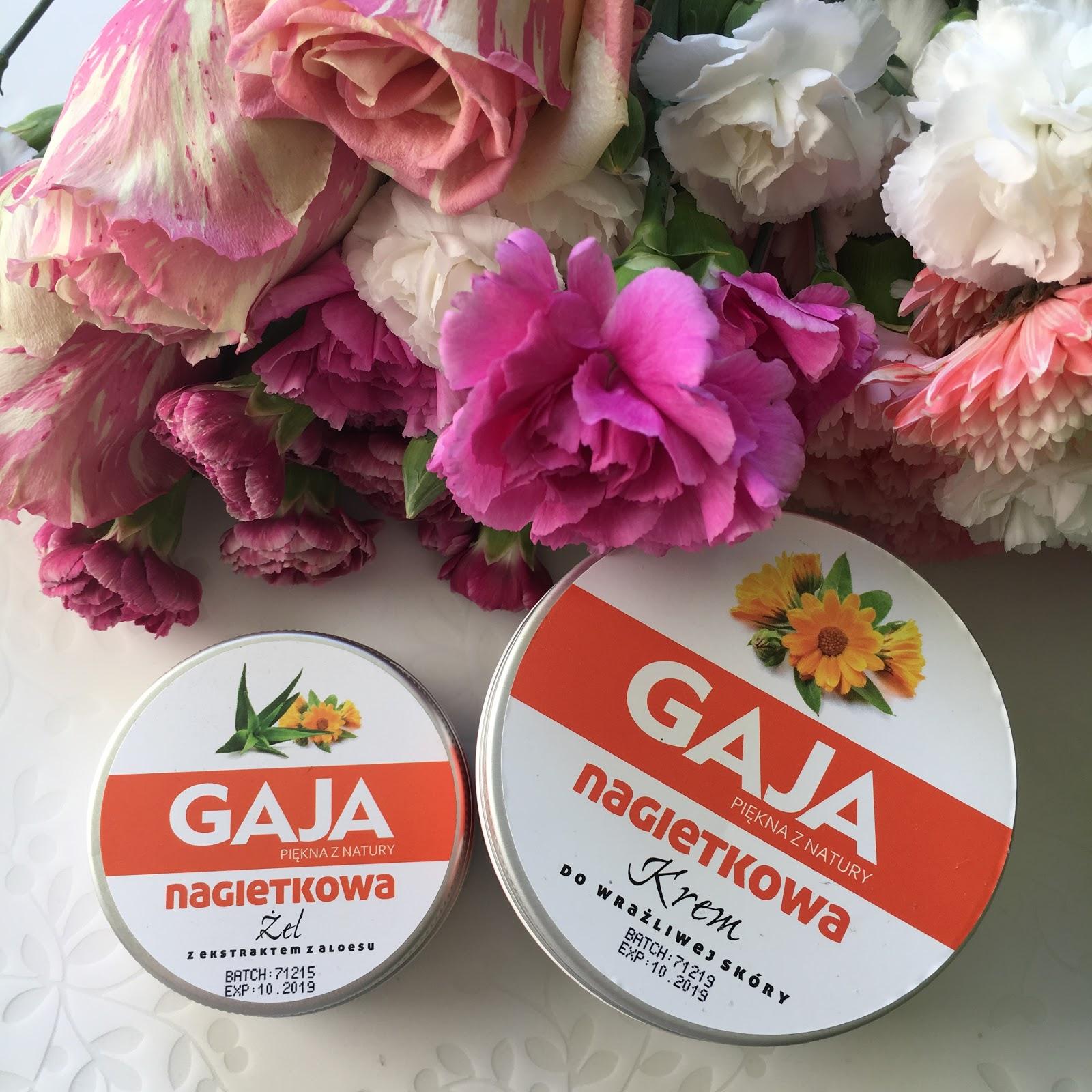 Trochę dłuższe niż zakładałam spotkanie z kosmetykami Gaja, czyli serią Nagietkową, Krem do wrażliwej skóry oraz Żel z ekstraktem z aloesu.