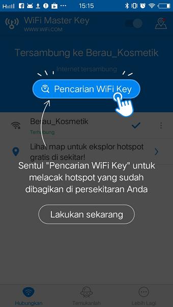 Cara menggunakan Wi-Fi Master Key untuk internet gratis