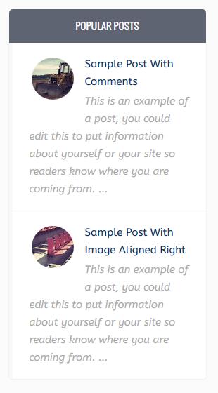 Ravia style popular post widget