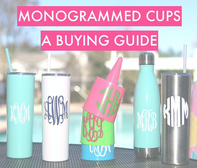 best monogrammed drinkware