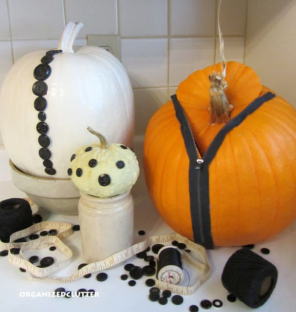 Zipper and Button Pumpkins
