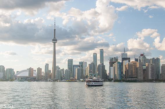 Skyline de Toronto desde las islas de Toronto