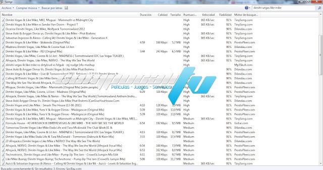 Songr 1.9 Programa para Escuchar Descargar Música