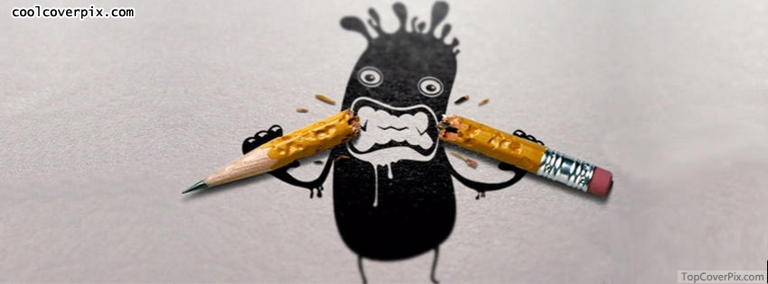 eat pencil funny Facebook cover
