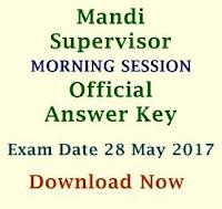 Official Answer Keys - Mandi Supervisor Exam 28May17 MORNING
