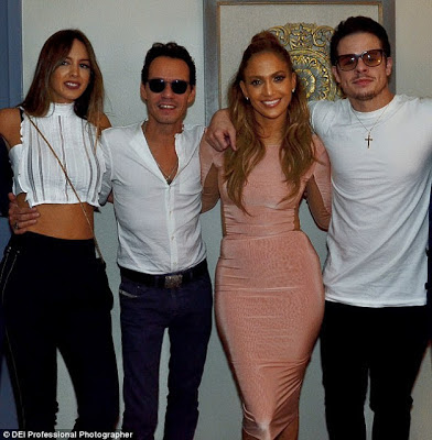 , .Lo poses with her ex husband Marc Anthony and his new wife in Las Vegas, Latest Nigeria News, Daily Devotionals & Celebrity Gossips - Chidispalace