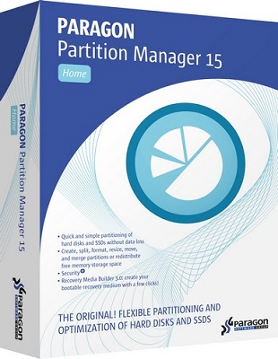 Paragon Partition Manager 15 Home 10.1.25.779 poster box cover