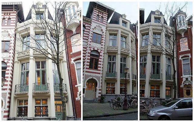 Zevenlandenhuizen casa francia calle Roemer Visscherstraat