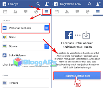 Update Aplikasi Facebook