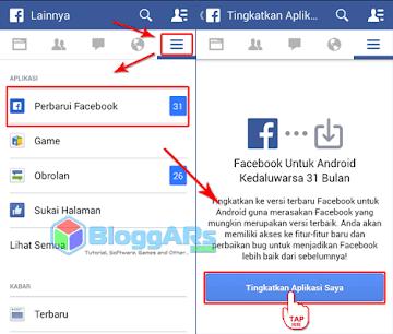 Update Aplikasi Facebook