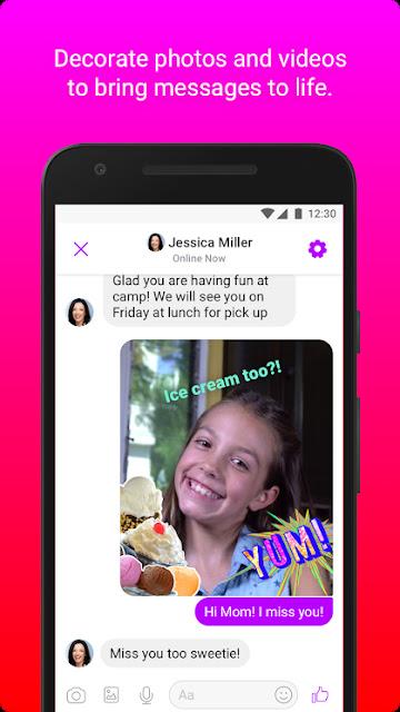 مسنجر فيسبوك كيدز للاطفال دردشة مراسلة كاميرا