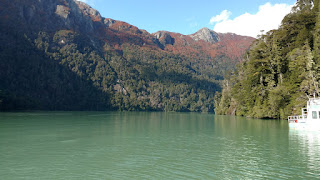 Lake Aguas Frias- the stunning, ethereal green color of the water