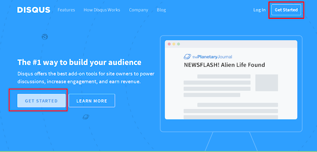 Get Started Disqus
