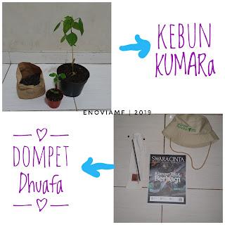 Goodie bag dari kebun kumara dan dompet dhuafa