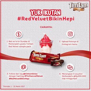 Lomba Foto Red Velvet Bikin Hepi TimTamLicious Berhadiah Voucher McDonald's Total 1 Juta Rupiah
